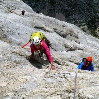 Arrampicata in Marmolada